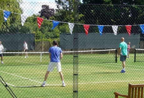 Families playing Tennis at Woodstock Tennis Club